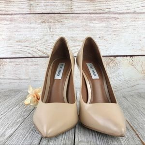 Steve Madden Proto Blush Leather Pointed Pumps